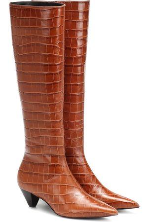 Mercedes Castillo Donique croc-effect leather boots
