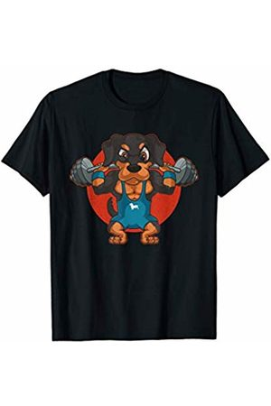 Flexin Workout Outfits Co. Weightlifting Dachshund Wiener Dog Workout Gym Lifting Gift T-Shirt