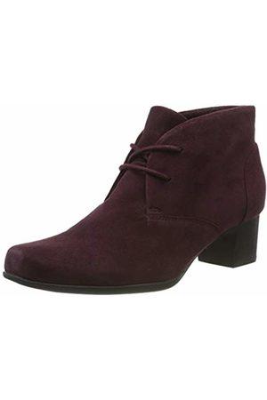 Clarks Women's Un Damson Tie Ankle Boots, Aubergine SDE