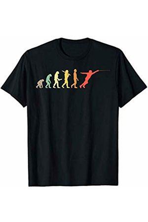Fencer Gift Ideas Retro Fencing Evolution Gift For Fencers T-Shirt