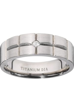 Vero Moda Very Titanium Diamond-Set Fancy Cut Mens Ring