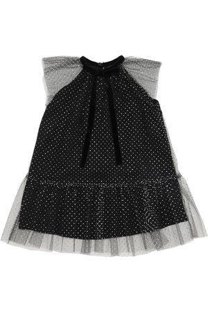 Oscar de la Renta Glittered Tulle Dress
