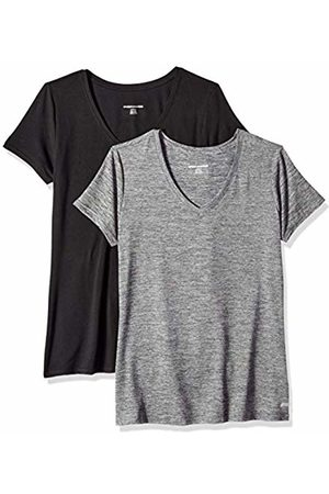 Amazon 2-Pack Tech Stretch Short-Sleeve V-Neck T-Shirt Space Dye/