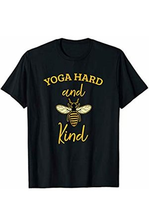 Bee is my Name Tees Yoga Hard and Be Kind Funny Beekeeping Kindness Gift T-Shirt