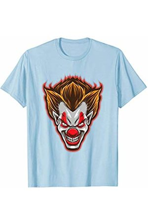 BUBL TEES Horror Clown Face Scary Happy Halloween Party T-Shirt