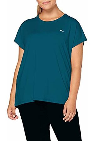 ONLY Play Curvy Women's Onpaubree Ss Loose Tr Tee Curvy-Opus Sports Shirt, Turquoise Shaded Spruce