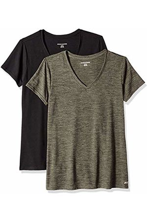 Amazon 2-Pack Tech Stretch Short-Sleeve V-Neck T-Shirt Olive Space Dye/