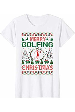 Mamazada Designs Womens Merry Golfing Christmas Ugly Sweater Gift T-Shirt