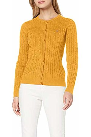 GANT Women's Stretch Cotton Cable Crew Cardigan (Honey 759)
