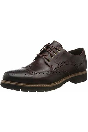 Clarks Men's Batcombe Wing Brogues, Burgundy Leather