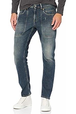 Jeckerson Men's 5pkts Short Patch Tapered Fit Jeans