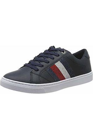 Tommy Hilfiger Women's Crystal Leather Casual Sneaker Low-Top