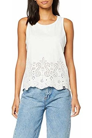 Superdry Women's Lara Broderie Vest Kniited Tank Top, (Rodeo Wb2)