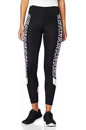AURIQUE BAL1063 Gym Leggings Women, ( /Paint Brush Leopard Print/ )