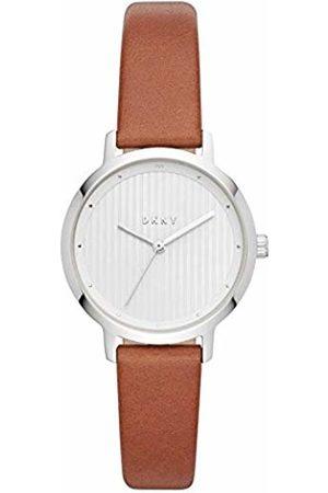 DKNY Womens Analogue Quartz Watch with Leather Strap NY2676
