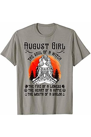 12 Months Girl The Soul Of A Witch Birthday Tee August January Girl The Soul of A Witch Birthday Yoga Gift T-Shirt