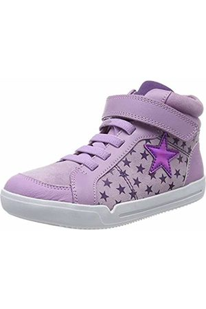 Clarks Girls' Emery Beat K Hi-Top Trainers, Lavender Suede