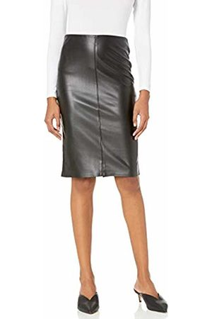 The Drop Women's Rachel Faux Leather Pull On Pencil Skirt