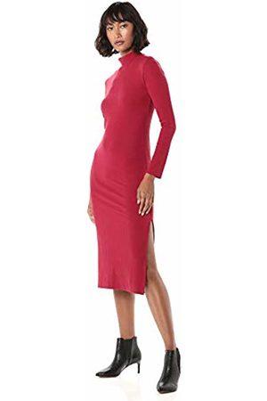 The Drop Women's Alyssa Long Sleeve Funnel Neck Ribbed Midi Body Con Dress
