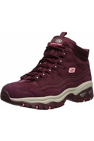 Skechers Women's Energy Ankle Boots, Leather/Mesh Burgundy