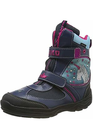 LICO Girls' Magic V Blinky Snow Boots, Marine/türkis/