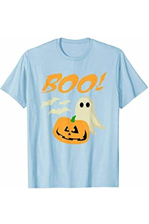 BUBL TEES Boo Halloween Ghost Bats Jack O Lantern Unisex T-Shirt