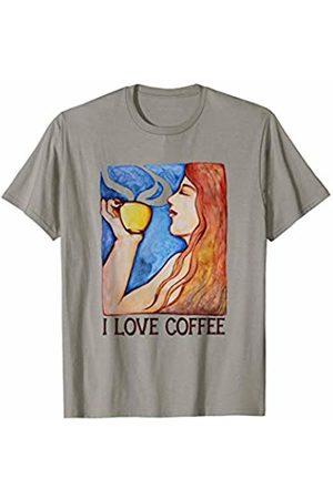 SnuggBubb I love coffee artwork coffee shop design T-Shirt