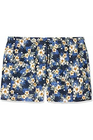 Urban classics Men's Pattern Swim Shorts (Hibiscus 01682)