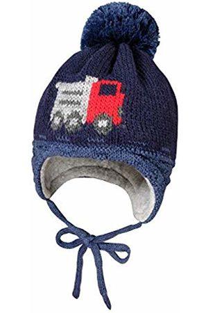 maximo Baby Boys' Mit Lastermotiv Pompon und Bindeband Hat