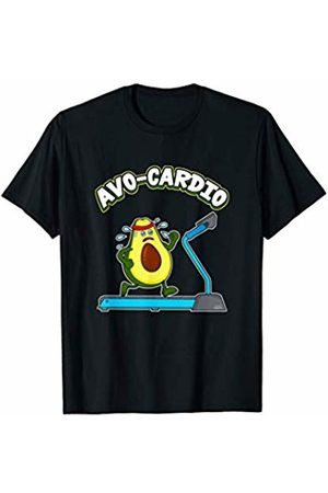 Funny Avocado Pun Workout Gym Gifts Cute & Funny Avo-Cardio Avocado Cardio Pun Exercise Gym T-Shirt