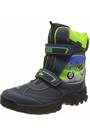 uk availability 454b8 ab1c5 Boys' Motorcycle V Blinky Snow Boots, Marine/Blau/Lemon