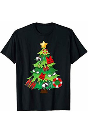 Cute N Funny Christmas Gifts CHRISTMAS Swimming Swimmer Tree Sports Funny Gift Xmas T-Shirt