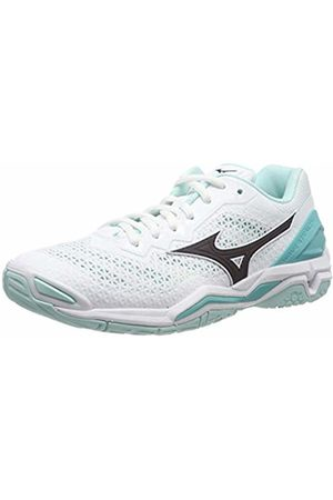 Mizuno Women's Wave Stealth V Handball Shoes, ( /Blueberry/Blueturquoise 13)