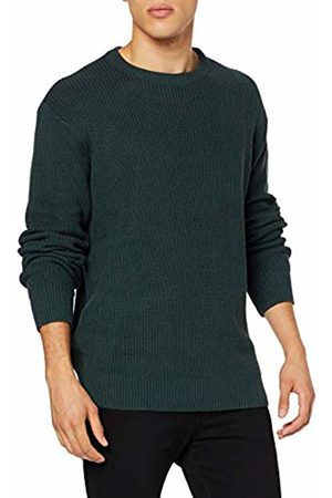 Urban classics Men's Cardigan Stitch Sweater Jumper, (Bottle 02245)