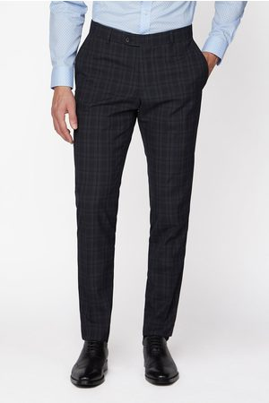 Jeff Banks Check Brit Suit Trousers In Super Slim Fit