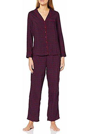 Pour Moi Women's Kaleidescope Pyjama Set, Navy/Berry