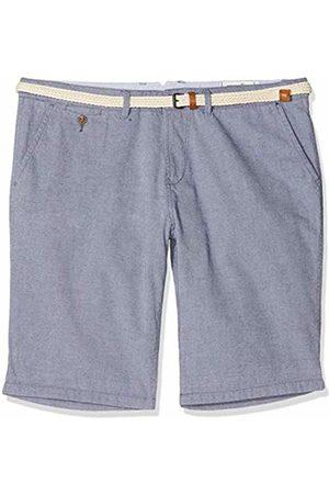 Tom Tailor Men's Yarn Dye Bermuda with Belt Short, ( Iris 6740)