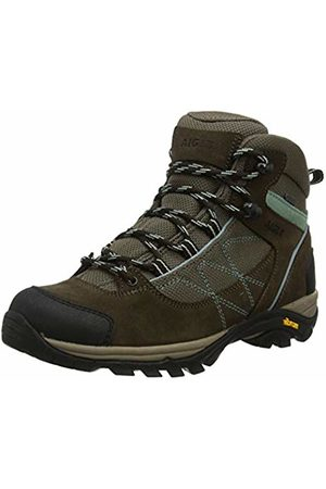 Aigle Women's MOOVEN MID W Gore-Tex High Rise Hiking Shoes, (Dark /Vert Agave)