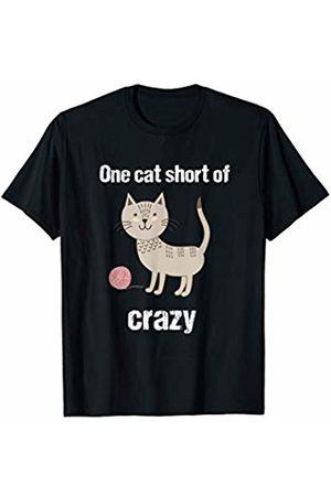 catloverteesforyou One Cat Short Of Crazy Fun Cat Lady Cat Lover T-Shirt