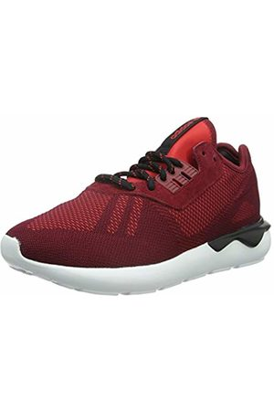 adidas Men's's Tubular Runner Weave Running Shoes Rot Collegiate Burgundy/Core