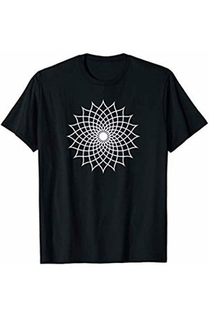 Geometric Patterns by SeaGreen Floral Mandala Flower Yoga Meditation T-Shirt