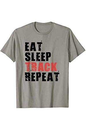 Swesly Track Eat Sleep Track Repeat Motivational Gift ACE071c T-Shirt