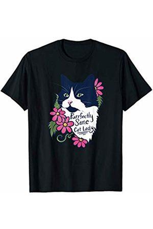 SnuggBubb Purrfectly sane cat lady fluffy tuxedo cat T-Shirt