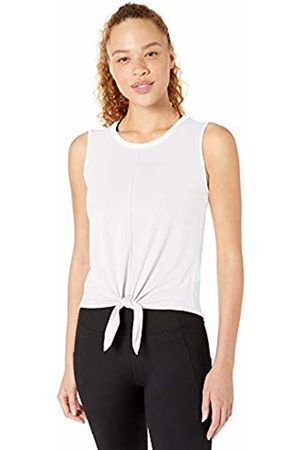 CORE Soft Pima Cotton Stretch Yoga Front-tie Sleeveless Tank Shirt