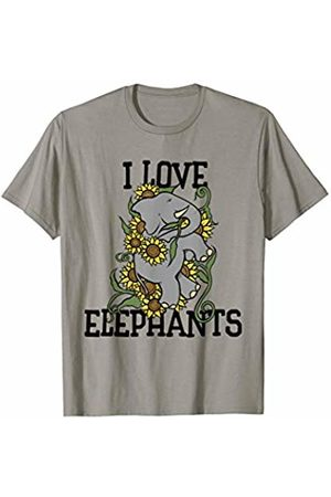 SnuggBubb I love elephants sunflower elephant artwork floral T-Shirt