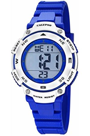 Calypso Unisex-Child Digital Quartz Watch with Plastic Strap K5669/7