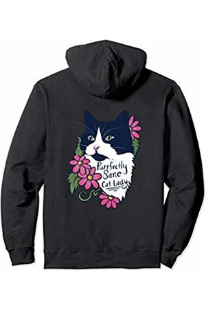 SnuggBubb Purrfectly sane cat lady fluffy tuxedo cat Pullover Hoodie