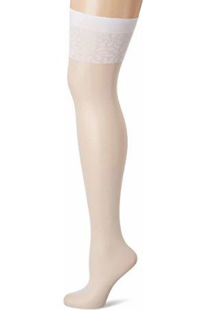 Fiore di Lucia Milano Women's Adora / Obsession Suspender Stockings, 8 DEN, Weiß ( 033)