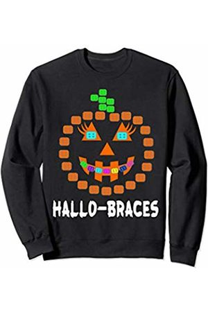 Halloween party pumpkin dentist Tee Halloween Pumpkin with Braces Orthodontist Costume Kids Sweatshirt