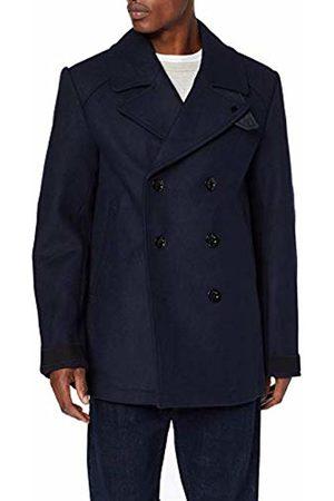 G-Star Men's Traction Wool Peacoat Coat, (Mazarine 4213)